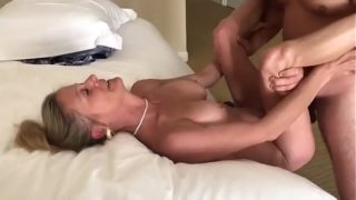 Partner Sharing His Mature Wife With Young Stud
